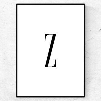 z bokstav letter poster