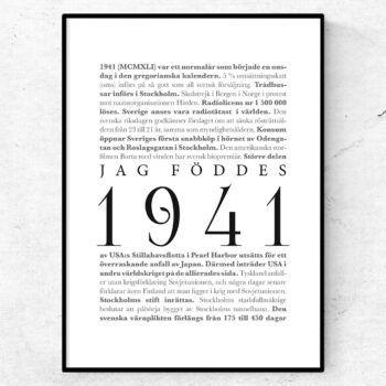 årtalsposter 1941 poster