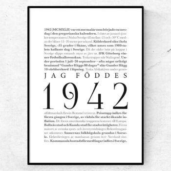årtalsposter 1942 poster