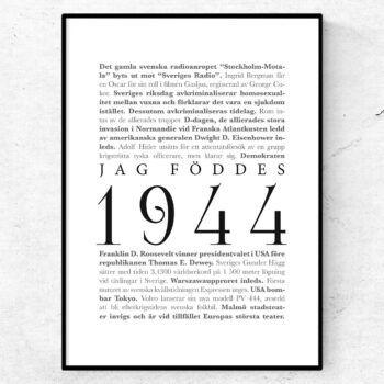 årtalsposter 1944 poster