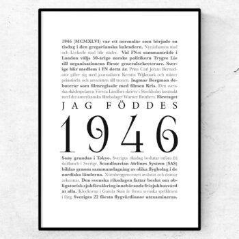 årtalsposter 1946 poster