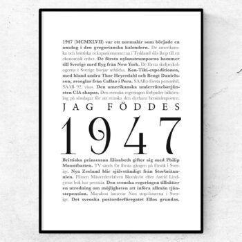 årtalsposter 1947 poster