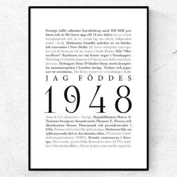 årtalsposter 1948 poster