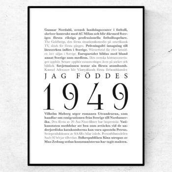 årtalsposter 1949 poster