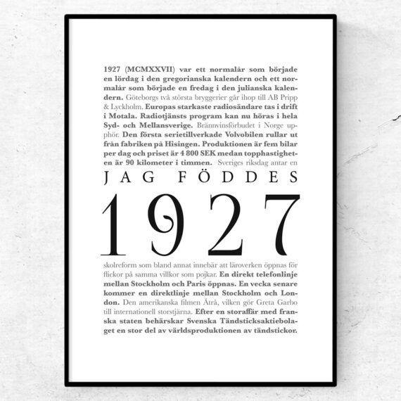 årtalsposter 1927 poster