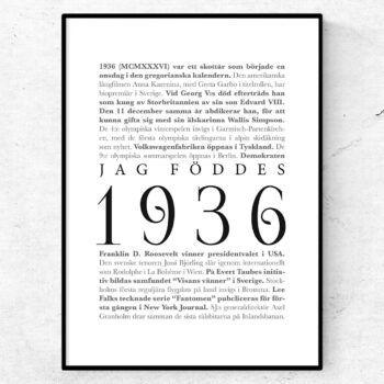 årtalsposter 1936 poster