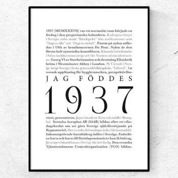 årtalsposter 1937 poster