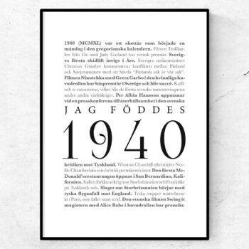 årtalsposter 1940 poster