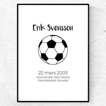 fotbollsposter poster tavla fotboll