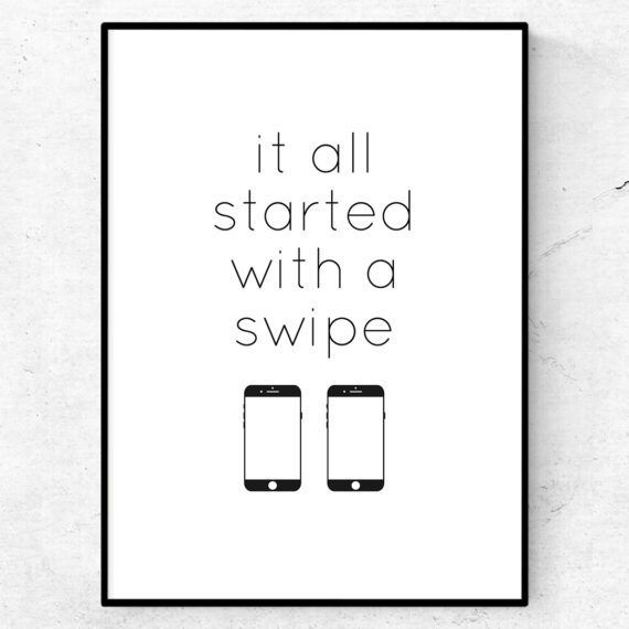 it all started with a swipe poster tinder