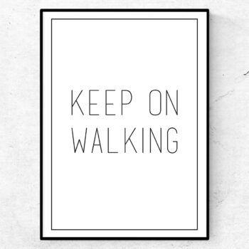 keep on walking poster