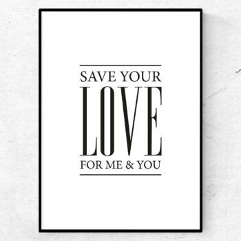 save your love for me poster