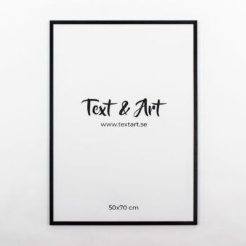 Text & Art ram svart 50x70cm