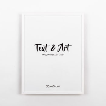 Text & Art ram vit 30x40cm
