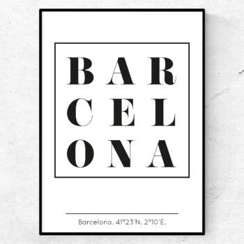 barcelona poster tavla