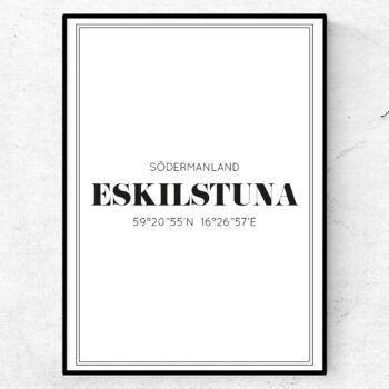 eskilstuna poster tavla