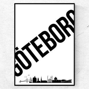 Göteborg poster tavla skyline