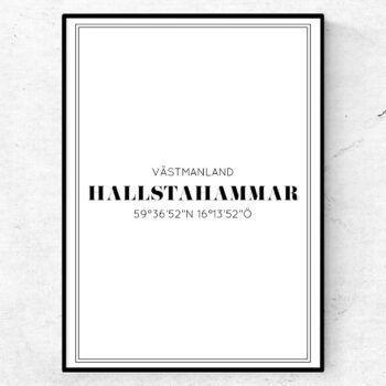hallstahammar poster tavla