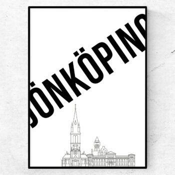 Jönköping skyline poster tavla