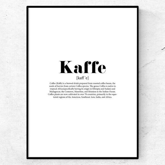 kaffe tavla poster lexikon fonetisk skrift