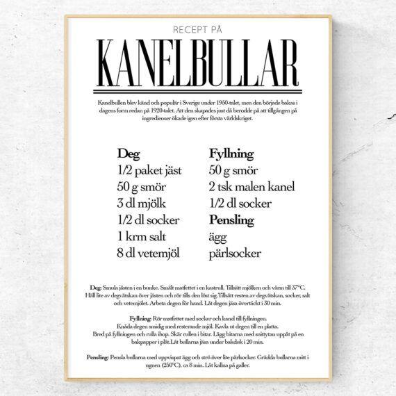 kanelbullar recept poster
