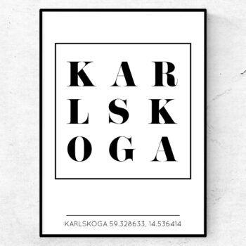 Snygg Karlskoga poster tavla