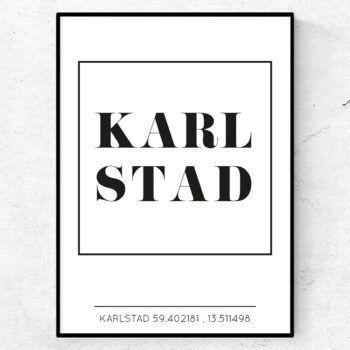 Karlstad poster tavla