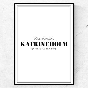 katrineholm poster tavla