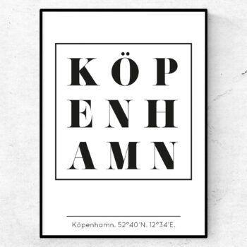 köpenhamn poster tavla