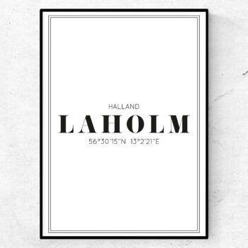 laholm poster tavla