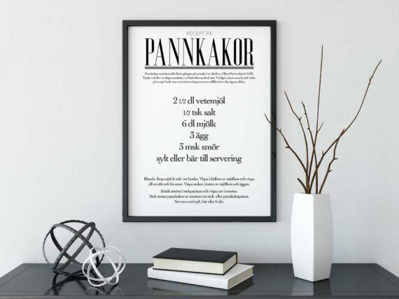 pannkakor recept poster
