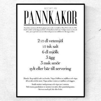 pannkakor recept poster tavla