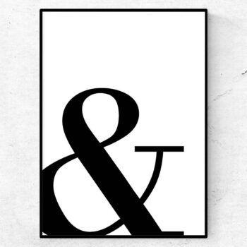 ampersand & poster tavla