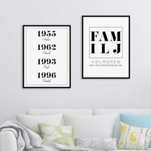 familjeposters familjetavlor