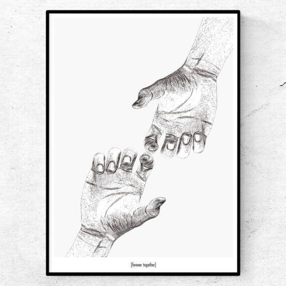 Forever together tavla händer poster
