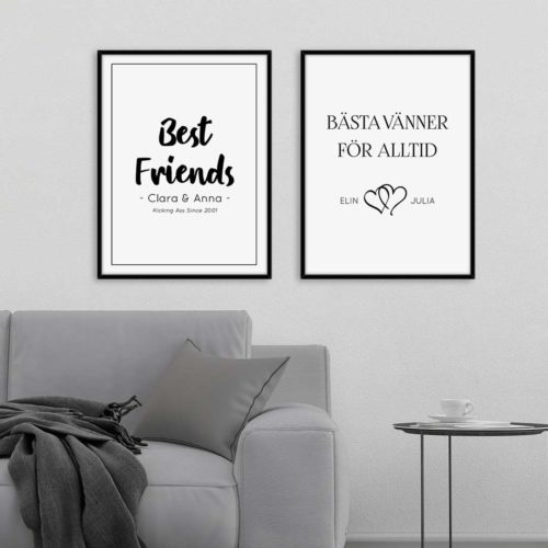 vänskap vänskapsposter present bästa vän