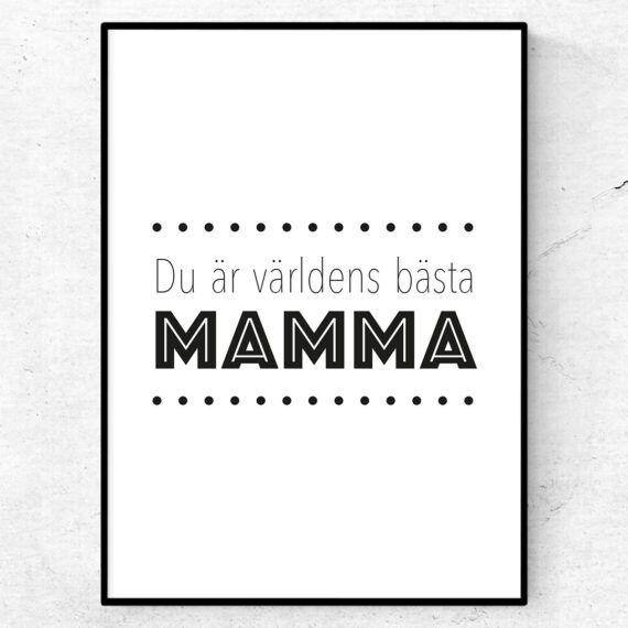 Du är världens bästa mamma poster mors dag present