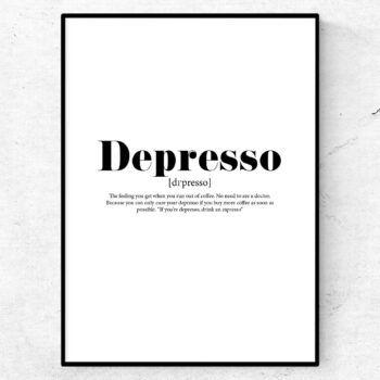 depresso espresso kaffe poster