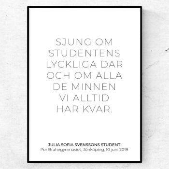 Sjung om studentens lyckliga dar studentpresent student 2019
