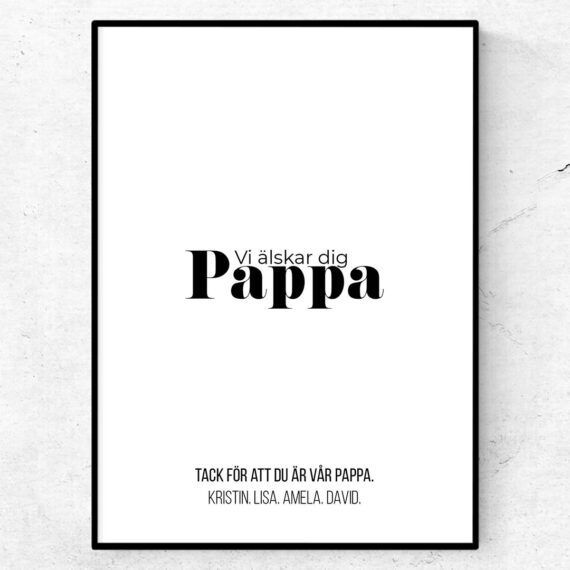 vi älskar dig pappa tavla poster fars dag present