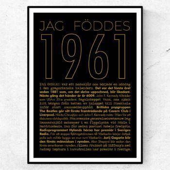 1961 guld poster