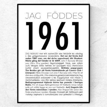 1961 modern poster
