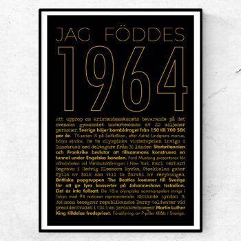 1964 guld poster
