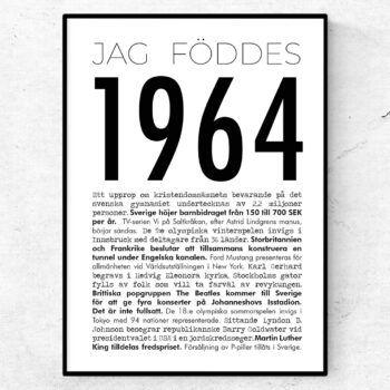 1964 modern poster