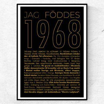1968 guld poster