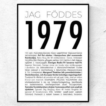 1979 modern poster