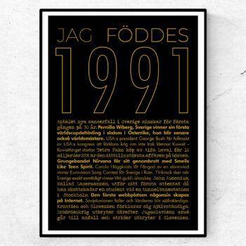 1991 guld poster