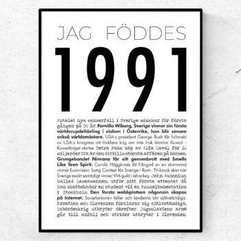 1991 modern poster
