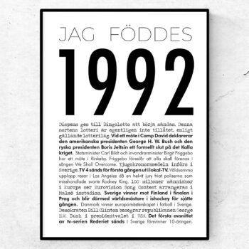 1992 modern poster