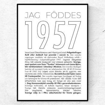 1957 linje poster